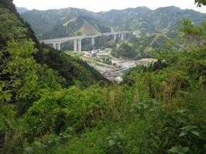 峠から見た、和田島。